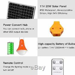 Roopure 20W Solar Panel Lighting Kit Solar Off Grid Remote Powered Shed 4 LED