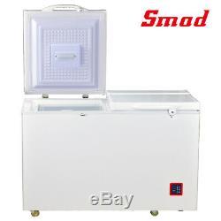 SMAD 7.5 Cu Ft Solar Powered Chest Freezer AC DC 12V 24V Dual Temp Zone Off Grid