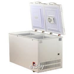 SMAD 7.5 Cu Ft Solar Powered Chest Freezer DC 12V 24V AC Off-grid Dual Temp