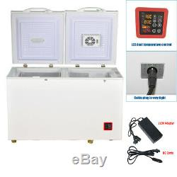 SMAD 7.5 Cu Ft Solar Powered Chest Freezer DC 12V 24V Dual Temp Zone Off-grid