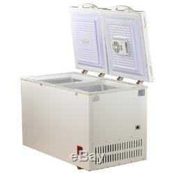SMAD 7.5 Cu Ft Solar Powered Freezer DC 12V 24V Dual Temp Off-Grid Camper Fridge
