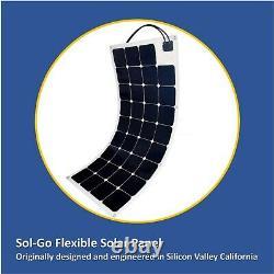 Sol-Go Flexible Solar Panels 115W 12V Off Grid Solar Power for RV Boats Roofs