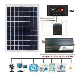 Solar Generator Panel Grid System Controller Inverter Charger Kit Power Station