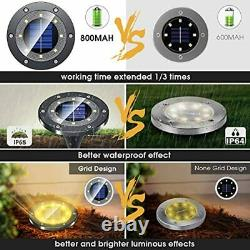 Solar Lights Outdoor Grid Design Shell, Powered Frosted Black Ground Waterproof