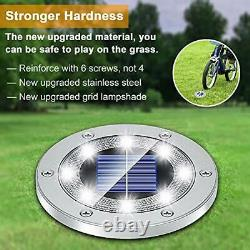 Solar Lights Outdoor Grid Design Shell, Solar Powered Ground Lights