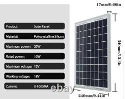 Solar Panel Kit, 1000W Power Inverter, 40A Controller Generator Grid System