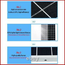 Solar Panel Kit 1000W Solar Power Generator Grid System Inverter Kit 50A NEW US