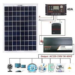 Solar Panel Kit 1000W Solar Power Generator Grid System Power Station 50A NEW US