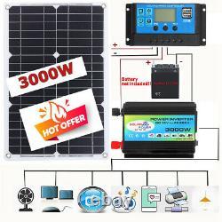 Solar Panel Kit 3000W Solar Power Generator Grid System Power 60A Home System