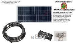 Solar Panel Starter Kit 30 Watt 12V PV Off Grid Kit for RV Boat Charge Control