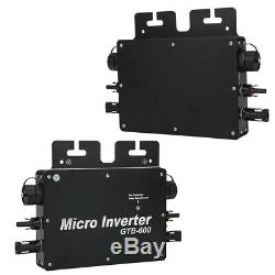 Solar Power Grid Tie Inverter Aluminum Alloy Micro Inverter 600W(AV210230V)