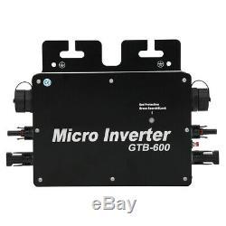 Solar Power Grid Tie Inverter PureSine Waving Aluminum Alloy Micro Inverter