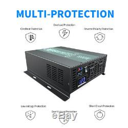 Solar Power Inverter 1500W 36V to 120/220V Off Grid Pure Sine Wave Remote Switch