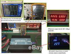 Solar Power Inverter 1500W 48V to 120/220V Pure Sine Wave Off Grid Remote Contrl