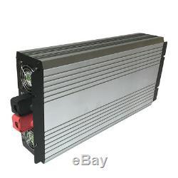 Solar Power Inverter 3000W Off Grid Pure Sine Wave 12V/24V/48V DC to 120V AC