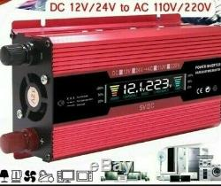 Solar Power Inverter Off Grid Converter 12V Transformer Automatic