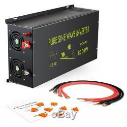 Solar Power Pure Sine Wave Inverter 8000W 60V DC to AC 110V 120V Off Grid Home