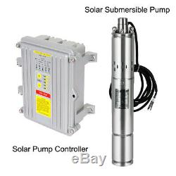 Solar Powered 3 DC Submersible Well Pump Irrigation System Off Grid MPPT Kits