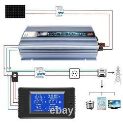 Solar Wind Power Input High Quality Grid Tie Inverter 30V 36VDC 1300W MPPT DC/AC