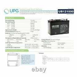 UPG UB121000 12V 100Ah SLA AGM Battery for Off Grid Solar Panel