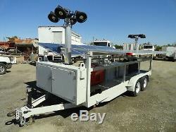 US Tower Corp. Portable Solar Generator 2.3 kW with 10 kW Kubota Off-Grid Unit