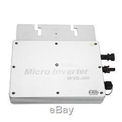 WVC-300W 110V/230V Micro Grid Inverter MPPT IP65 DC22-50V for Solar Power System