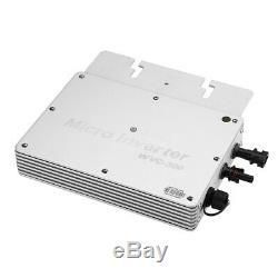 WVC-300W 110V/230V Solar Power Inverter MPPT DC22-50V Grid Tie Pure Sine Wave