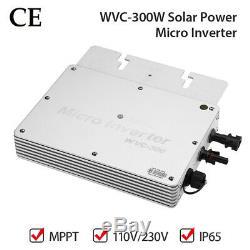 WVC-300W 110V/230V Solar Power Inverter MPPT Grid Tie Pure Sine Wave with CE
