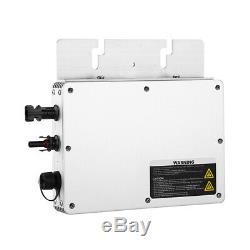 WVC-300W 110V/230V Solar Power Micro Inverter MPPT Grid Tie Pure Sine Wave IP65