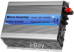 WonVon Solar Power Inverters, AC110V 600W Micro Inverter Grid Tie Inverter MPPT