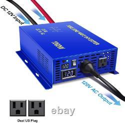 XYZ INVT 1000W Pure Sine Wave Inverter 12v to 110v 120v Off Grid Solar Power Inv