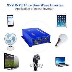 XYZ INVT 1500W Pure Sine Wave Inverter 12v to 110v 120v Off Grid Solar Power dc